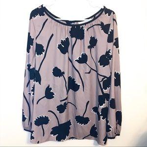LOFT Floral Blouse XL